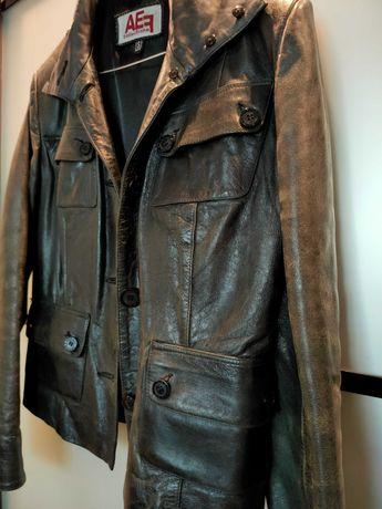 Кожаная винтажная куртка