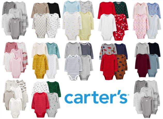 Боди, бодики Carters, Картерс, с длинным рукавом