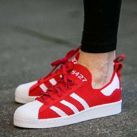 """Buty adidas Superstar 80s Primeknit W """"Lush Red"""" (S75427) rozm. 40"""