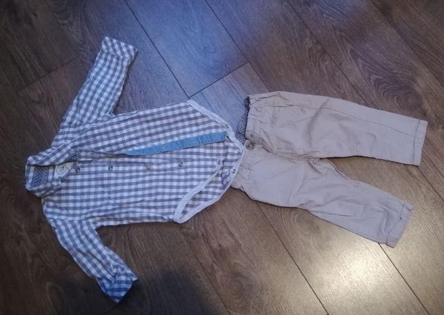 Zestaw body koszulowe i spodnie rozmiar 74