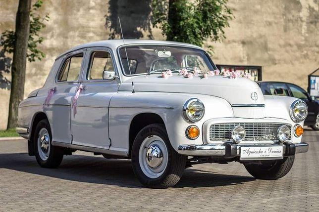 Kultowa Warszawa 223 klasyk auto samochód do ślubu