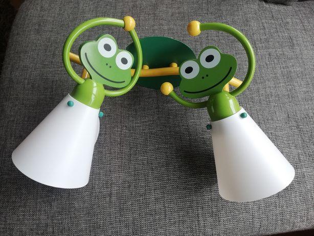Lampa na ścianę żabki dziecięca