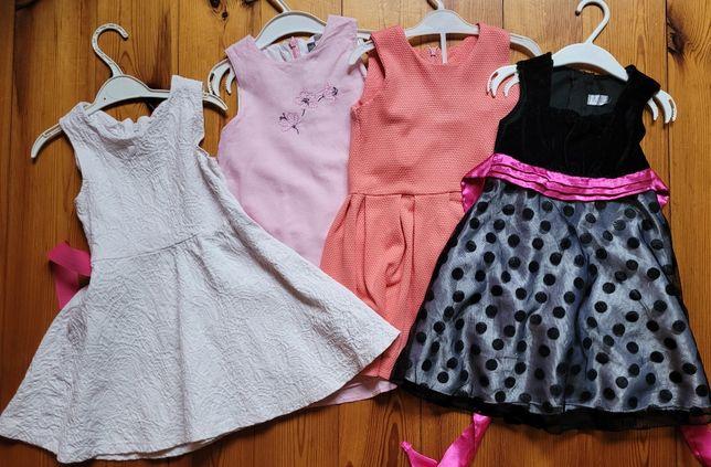 sukienki 92 i 98 cena 15 zł za szt.