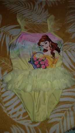 Disney princess 122 strój kostium kąpielowy jednoczęściowy z falbanka