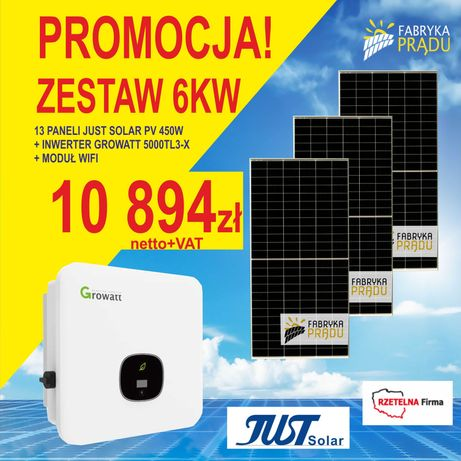 Zestaw 6 kW Panele fotowoltaiczne Panel Dostępne: 4kW 5kW 7kW 8kW 10kW