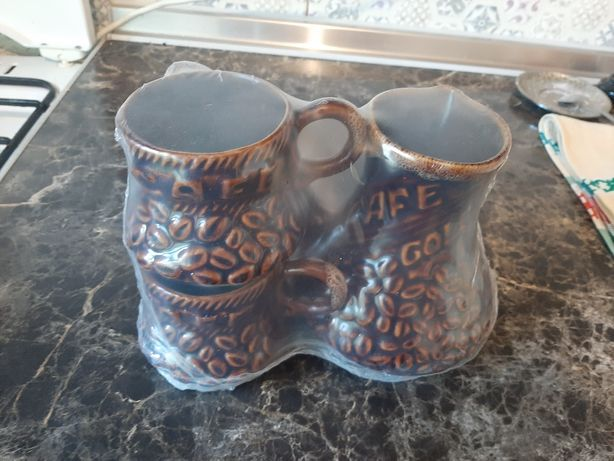 Продам глиняный набор турка + 2 чашки