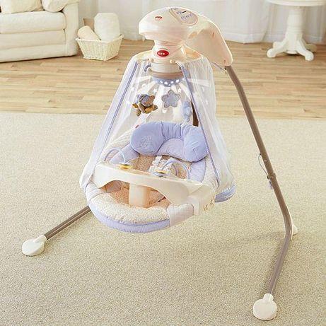Fisher price cradle swing hustawka dla niemowląt uzywana