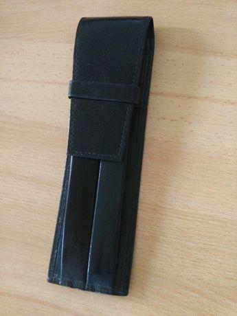 Skórzane etui na długopisy czarne