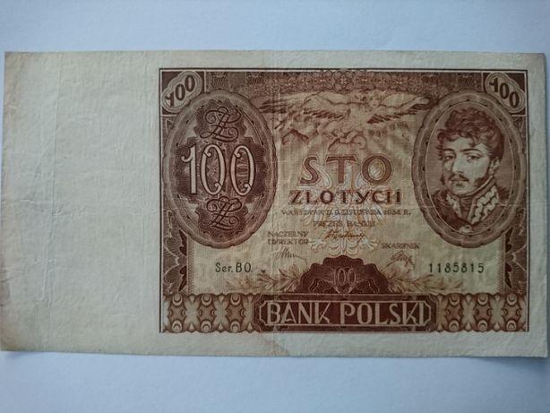 Banknot 100 złotych z 1934r.