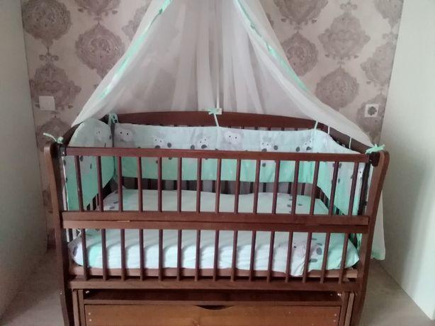 """Детская деревянная кроватка """"Дубок Элит"""""""