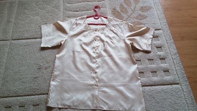 Elegancka bluzeczka z haftem - UK16/EU44 - 100%silk !!
