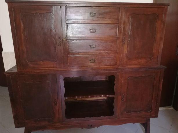 2 móveis de madeira anos 40 para restauro