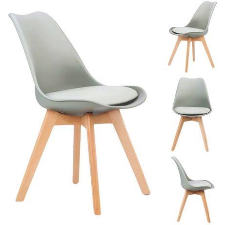 Zestaw 4 krzeseł z poduszką ModernHome