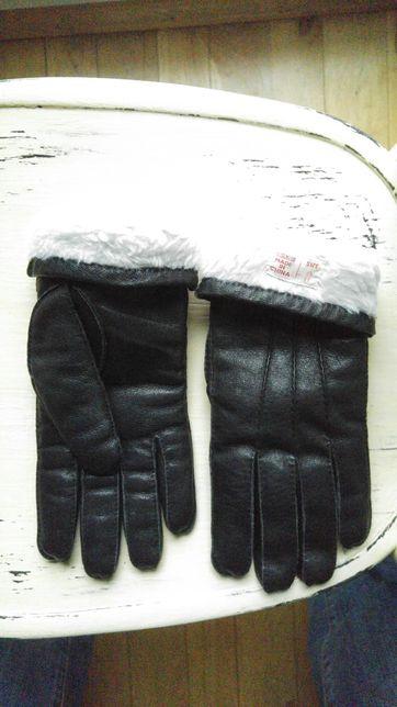 Rękawice skórzane rozm. 8 czarne