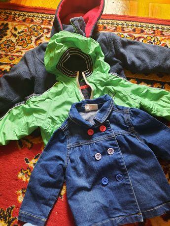 Верхняя детская одежда 12-18, куртка, ветровка, джинсовая куртка
