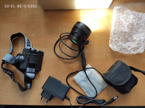 Вело Фара, фонарь, фонарик, Аккумулятор 9600 мАч