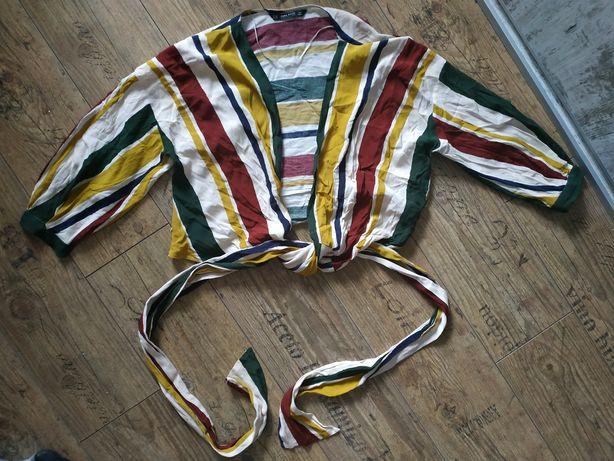 Wiązana bluzka Zara . Rozmiar M. Stan bardzo dobry