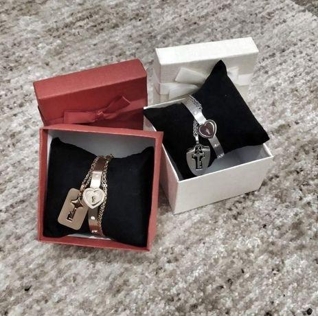БЕСПЛАТНАЯ ДОСТАВКА Подарок на 8 марта браслет на замке кольцо с пр