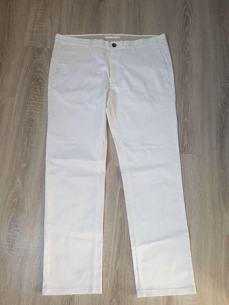 Eleganckie białe spodnie ZARA 46 męskie