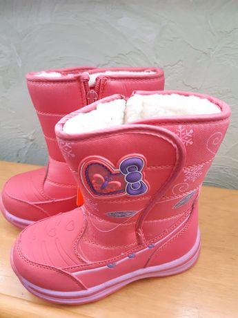 Зимові чобітки для дівчинки на овчині