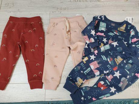 Spodnie dresowe next /dres 12_18 m 86 cm nowe 4 szt