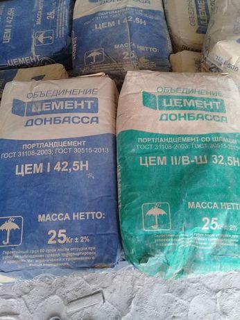 Цемент ПИК (Донбасса) м400 (зеленый