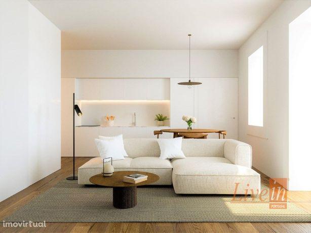 Apartamento T1 Novo de Alta Qualidade com Logradouro em A...