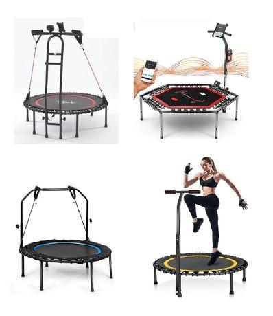 trampolina do skakania treningowa fitness dom ogród uchwyt taśmy