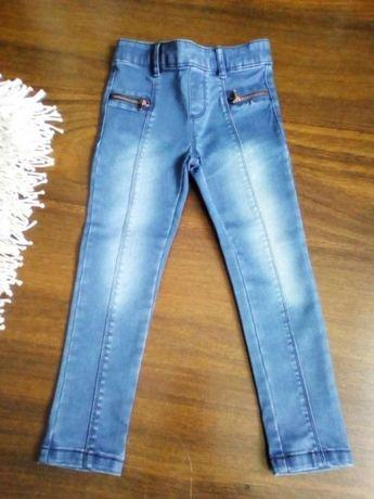 ZARA 110 cm spodnie/jeansy/dżinsy/legginsy