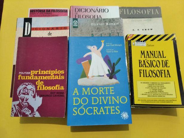 Diversos livros de Filosofia: A Morte do Divino Sócrates e outros