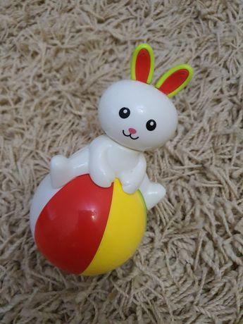 Игрушка Неваляшка-зайка