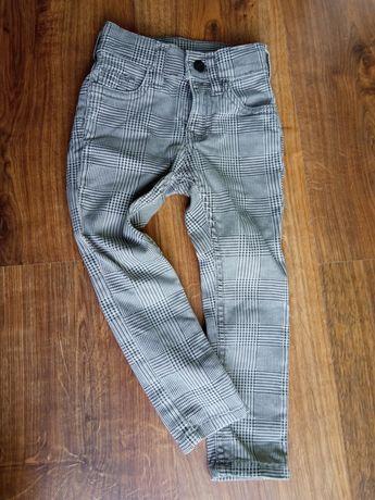 Super eleganckie spodnie w kratkę rozmiar 92