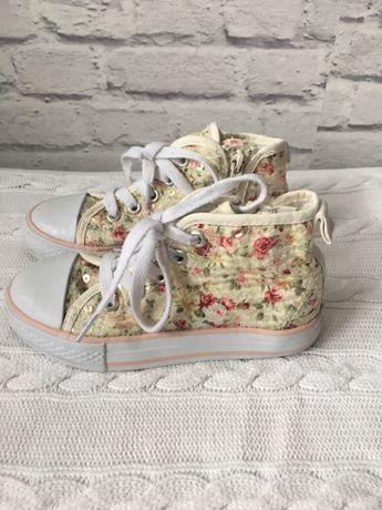 Buty trampki tenisówki w kwiaty roz 27 (HM zara)