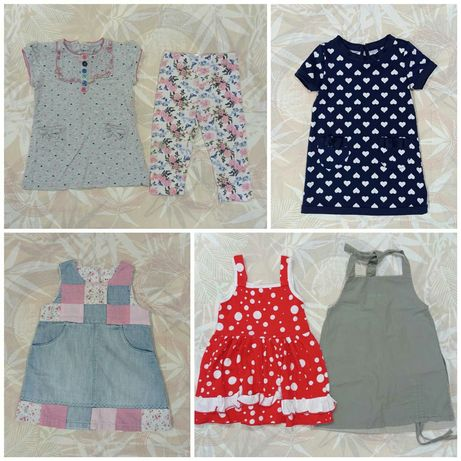 Вещи, одежда для девочки на 9-12 месяцев платья сарафан лосины