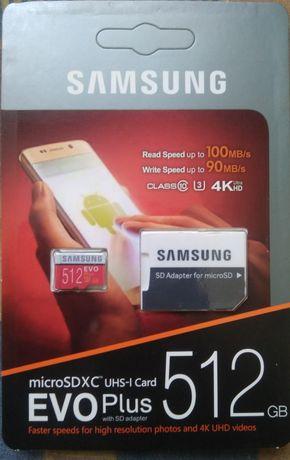 Карта памяти Samsung evo plus 512 gb, гб