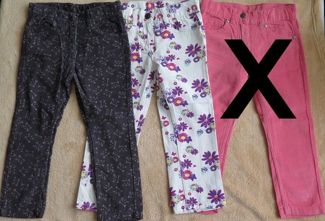 Spodnie sztruks bawełna 98