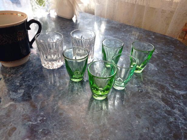 Чашка и рюмки новые