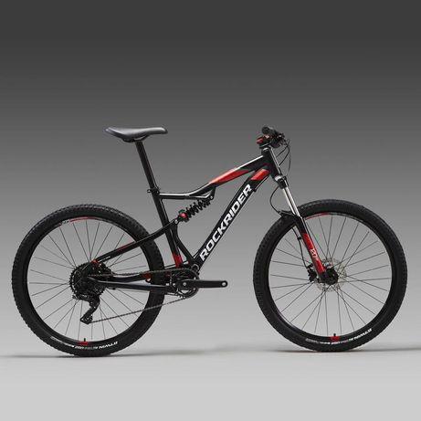 Bicicleta Rockrider BTT ST 530 + Capacete Rockrider BTT ST 500 Preto