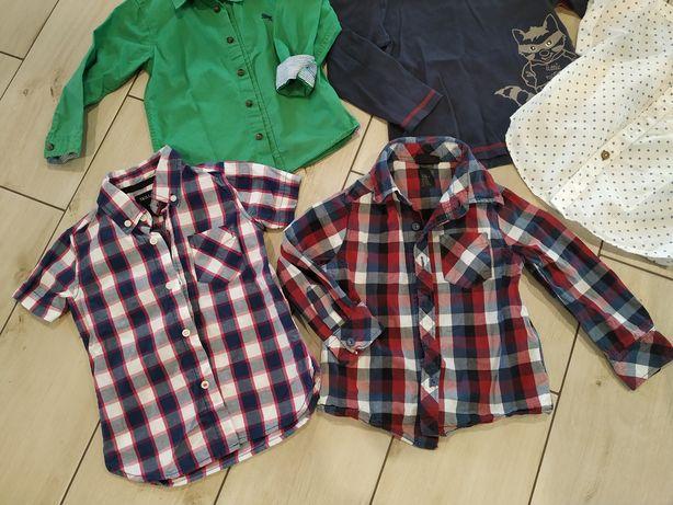 Całość 20 zł Koszula biała w kratkę bluzy koszulki 98-104