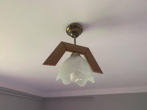 Lampa sufitowa/lampy sufitowe z drewnianym elementem - 2 sztuki - HIT!