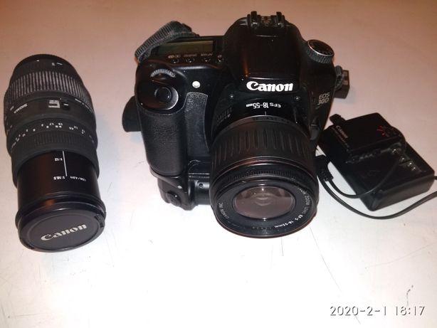 Aparat fotograficzny Canon EOS 30 D + obiektyw