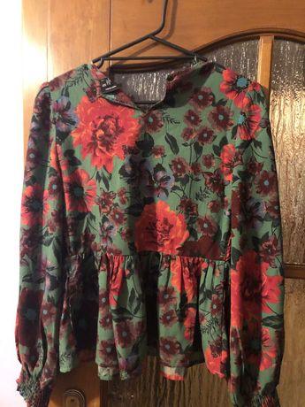 Bluzka koszula kwiaty S veromoda falbana