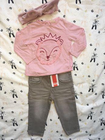 Szare spodnie dziewczęce z metka 92 Kanz