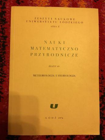 METEOROLOGIA I HYDROLOGIA 1974 zeszyty naukowe tanie książki technicz