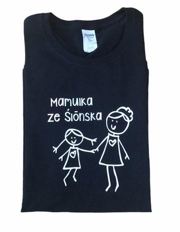 Koszulka z nadrukiem - Mamulka ze Ślonska
