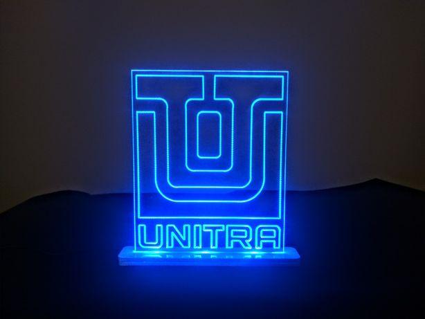 Lampka LED logo UNITRA