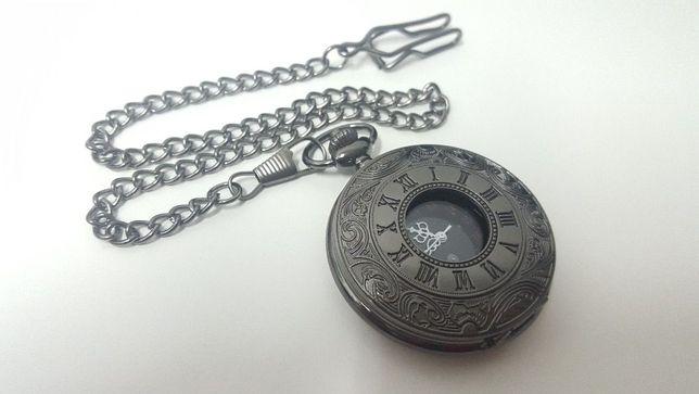 R0160 Relógio de Bolso Antigo Retro Vintage Numeração Romana