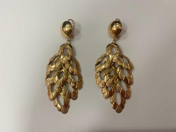 wyjątkowe niepowtarzalne złote kolczyki p585 30,07g