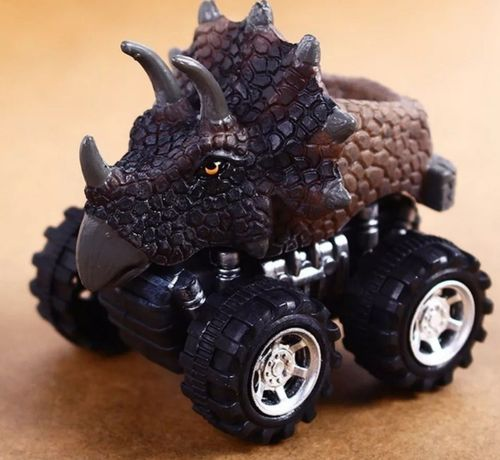 2 auta Dinozaury. Pterodaktyl i triceratops