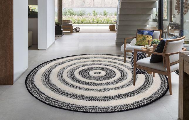 Tapete Carpete Berbere Boho Redondo 160cm By Arcoazul